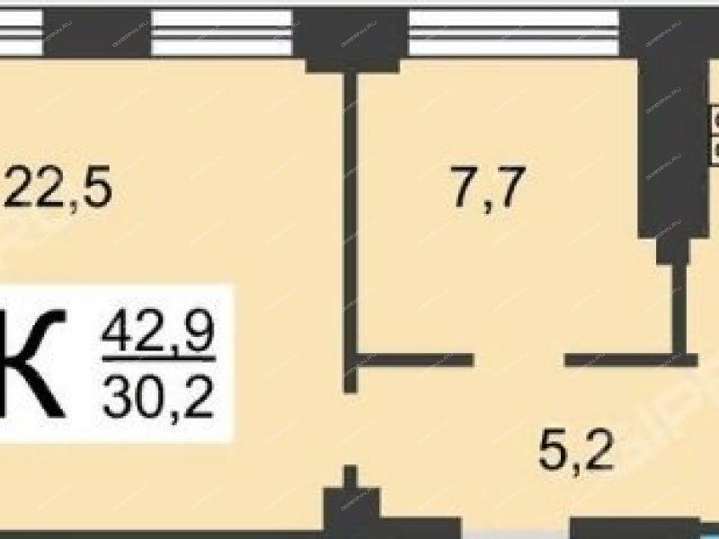 двухкомнатная квартира на проспекте Ильича дом 13
