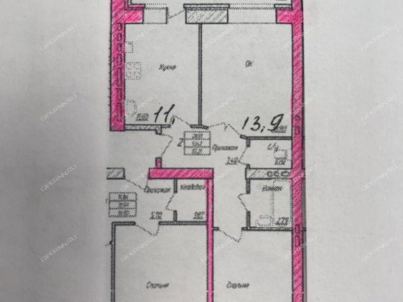 двухкомнатная квартира в новостройке на улице Куликова город Арзамас